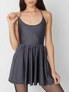 American Apparel charcoal skater dress