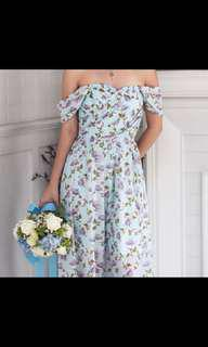 Thevelvetdolls Flowers In Spring Bandeau Maxi