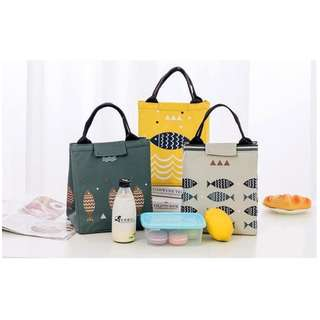 JUAL COOLER BAG MOTIF IKAN BONUS JELLY ICE LUNCH BAG TU1H1
