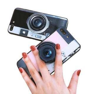 🚚 抖音同款相機手機保護殼+氣囊支架 手機殼 全包邊 硅膠套 保護套 蘋果 iphone X 8 7 6 plus