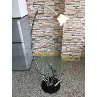 香榭二手家具*造型玻璃 圓几桌上燈-小茶几-茶几桌-矮桌-客廳桌-沙發桌-檯燈-立燈-泡茶桌-餐桌-和室桌-2手貨-夜燈