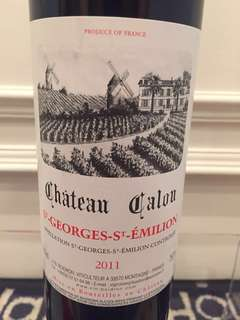 2011 French Wine Chateau Calon Bordeaux Blend Red