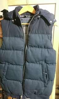 ASOS 夾克背心 男背心 保暖 厚款 (深藍色)