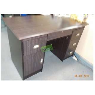 FST-120140C FREESTANDING TABLE SIDE DRAWERS MAHOGANY COLOR