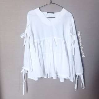 Shopatleen baby doll top / white top #maudecay