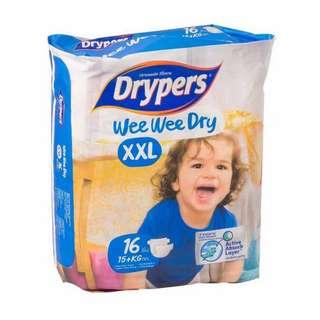 Drypers Wee Wee Dry XXL 16pcs