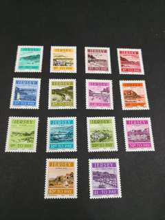 Jersey. Postage due complete stamp set
