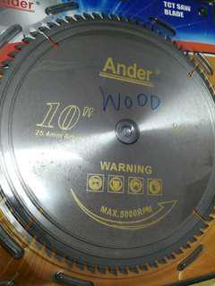 """Ander Wood Cutting Blade 10""""x80T"""