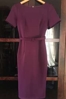 Doublewoot Royal Purple Belted Dress