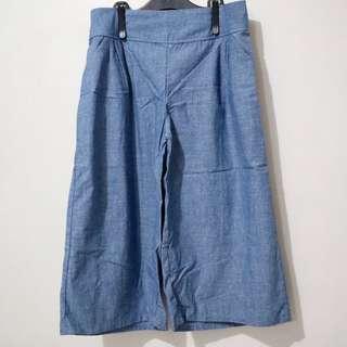 2-pcs Cropped Wide Leg Pants