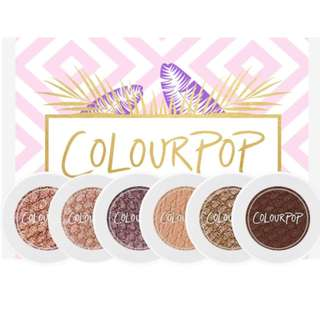 (Brand New)ColourPop Mile High - Super Shock Shadow Collection