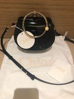 Chole small Nile bracelet bag, Glossy Lamb skin