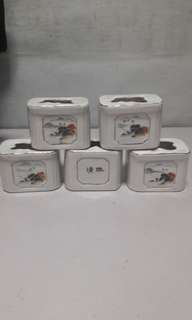 Set Of 5 Hand painted porcelain  - China