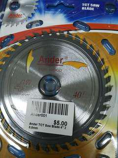 """Ander Wood Cutting Blade 4""""x40T"""