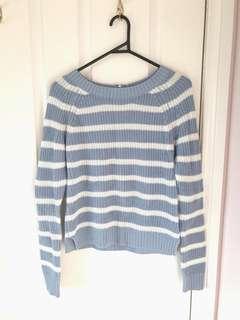 Blue/White Striped Sweater