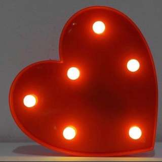 LED Heart - Red, Pink, White - Night Light