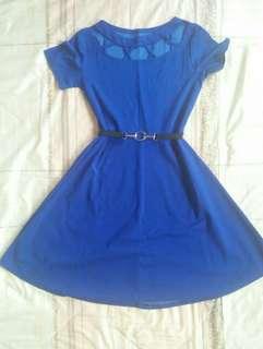 Blue dress w/ belt