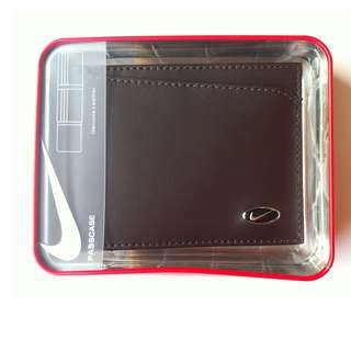 Original Nike Leather Passcase Men's Wallet - Brown FreeShipping CashOnDelivery