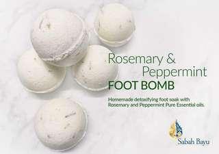 Rosemary & Peppermint Foot Bomb/Foot Soak (Detox)