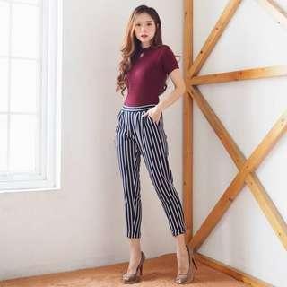 Lune stripe pants