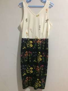 Mags floral bodycon dress