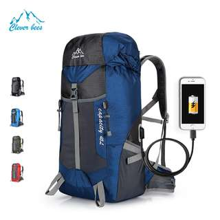 Cleverbees USB Water Resistant 45L Hiking Travel Backpack Bag FreeShipping CashOnDELIVERY