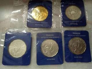 Syiling Peringatan Silver $25 Bukan Peruf Malaysia