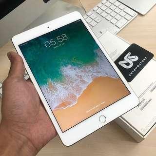 Apple iPad Mini 4 Gold 128gb Wifi Cellular 4G Mulus Garansi iBox
