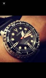 全新 Full set Citizen NH8380 Divers Watch 潛水錶