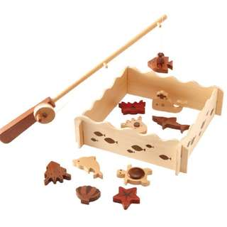 Red Wood Set Series - Wooden Magnetic Fishing Set (TC9003)