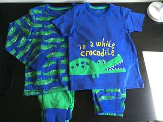 [readystock] MOTHERCARE 2-pack pyjamas -crocodile (5-6y)