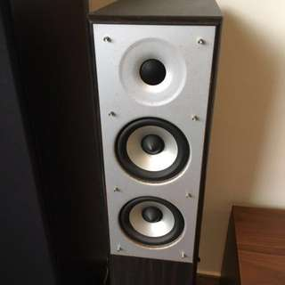 400 Watt Tower Speakers Engineered in USA with built in subs