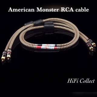 American Monster high end class RCA signal audio line 1 meter