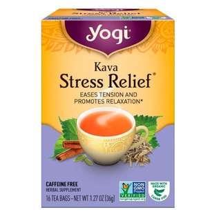 ❣️ONHAND❣️Yogi Tea, Kava Stress Relief, Caffeine Free, 16 Tea Bags, 1.27 oz (36 g)