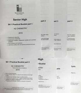 NJC H2 Chem Practical booklets