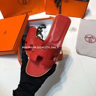 Hermes Shoes in red