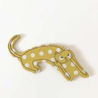 Japan zakka cloth polka dots cat magnet