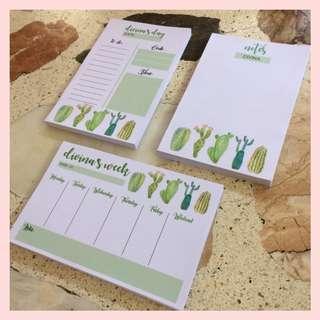 Cactus Notepads