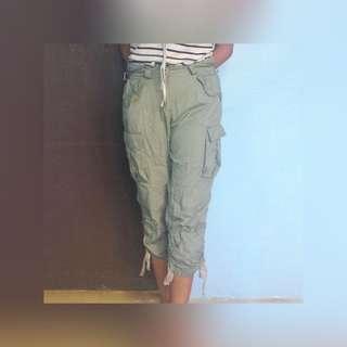 Teal cargo pants