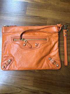 Balenciaga Giant Clutch Orange GHW