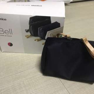 Ithinkso bell make up black pouch