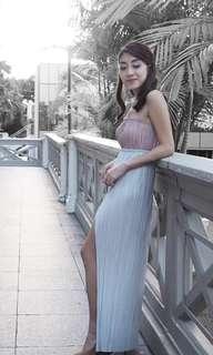 Innit bangkok maxi slit skirt