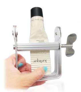 Cosmetics tube squeezer dispenser aluminum roller