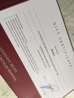 GIFT CERTIFICATE @ MARCO POLO ORTIGAS