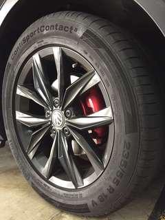 18吋Volkswagen Tiguan 2原廠鈴連馬牌輪胎