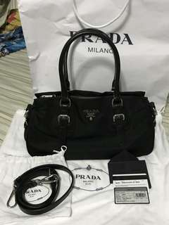 100% Authentic PRADA Tessuto Two-way bag
