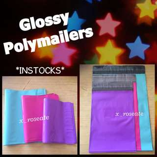 Glossy Polymailers (Colours: Pink / Turquoise / Purple)