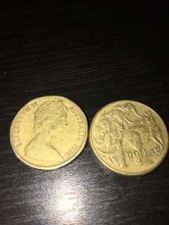 Old Coins - 1 Dollar Australia