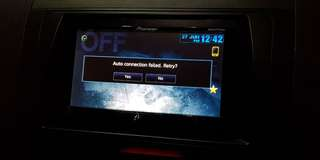 Pioneer AVH-X8550BT Player with Reverse Camera