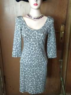 New Look bodycon animal print with lower back
